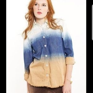Free people chambray dip dye before sunrise top